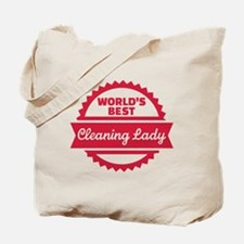 World's best cleaning lady Tote Bag
