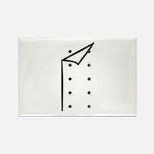 Chef uniform Rectangle Magnet (100 pack)