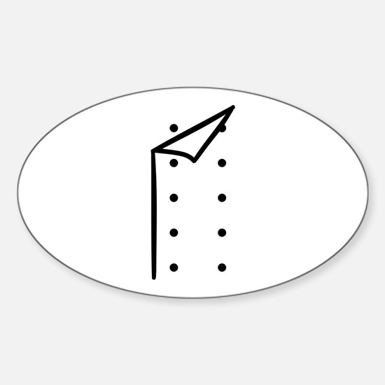 Chef uniform Sticker (Oval)
