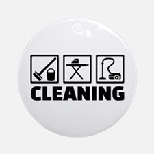 Cleaning housekeeping Ornament (Round)