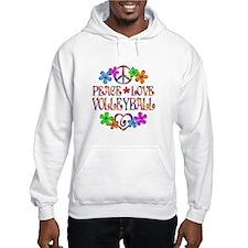 Peace Love Volleyball Hoodie Sweatshirt