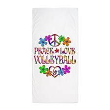 Peace Love Volleyball Beach Towel