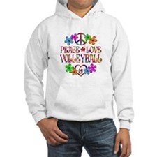Peace Love Volleyball Hoodie Sweatshirt