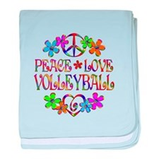 Peace Love Volleyball baby blanket