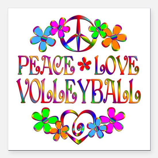 Peace Love Volleyball Car Magnets Cafepress