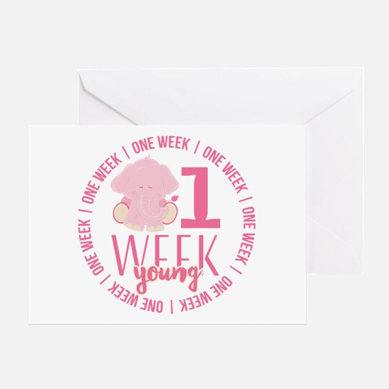 One Week Old Greeting Card