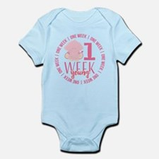 One Week Old Infant Bodysuit