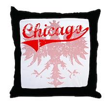 Chicago Polish w/Eagle Throw Pillow