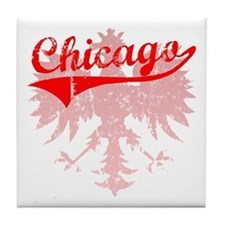 Chicago Polish w/Eagle Tile Coaster