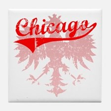 Chicago Polish w/Eagle Tile Coaster