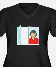 Face In Mirror Plus Size T-Shirt