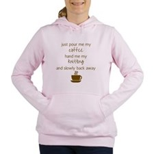 Just Pour Me My Coffee,  Women's Hooded Sweatshirt