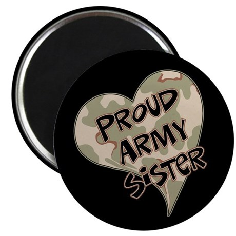 Proud Army sister heart Magnet