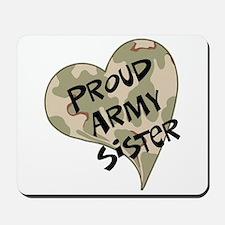 Proud Army sister heart Mousepad