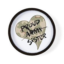 Proud Army sister heart Wall Clock