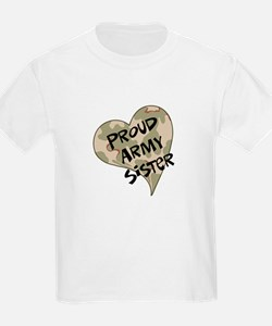 Proud Army sister heart T-Shirt