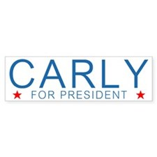 Carly For President Bumper Car Sticker