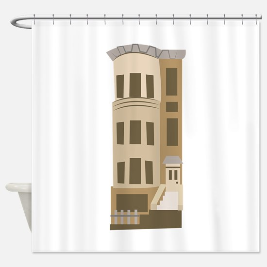 Brown Stone Shower Curtain