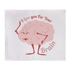Love Your Brain Throw Blanket