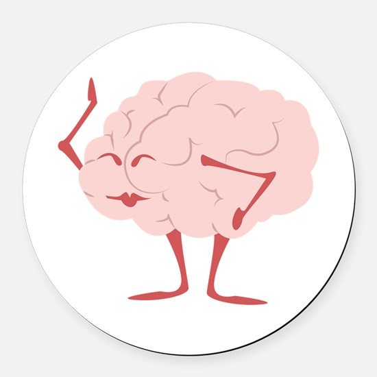 Humorous Brain Round Car Magnet