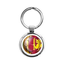 Sri Lanka Soccer Ball Round Keychain