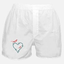 Barbed Wire Heart Birds Boxer Shorts