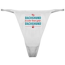Cuter Dachshund Classic Thong