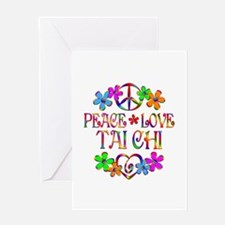 Peace Love Tai Chi Greeting Card