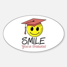 Smile, You've Graduated Oval Decal