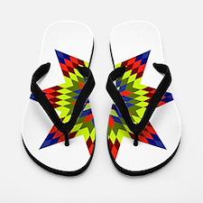 Native Stars Flip Flops