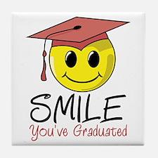 Smile, You've Graduated Tile Coaster