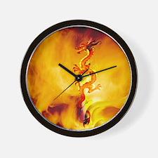 Dragon Fire Dancer Wall Clock