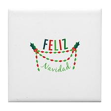 Feliz Navidad Tile Coaster