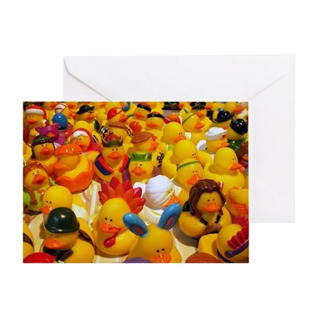 Rubber Ducks on Parade Greeting Card