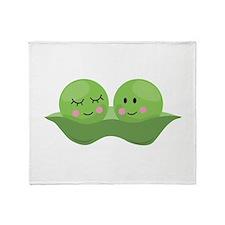 Peas In Pod Throw Blanket