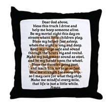 Truck Driver's Prayer Throw Pillow