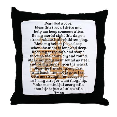 Truck Driver's Prayer Throw Pillow