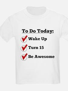 15th Birthday Checklist T-Shirt