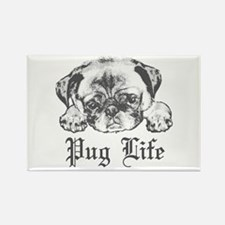 Pug Life 2 Rectangle Magnet