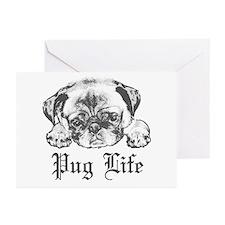 Pug Life 2 Greeting Cards (Pk of 10)