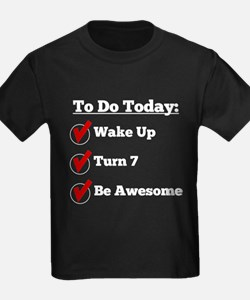 7th Birthday Checklist T-Shirt