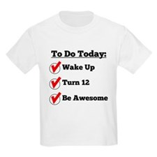 12th Birthday Checklist T-Shirt