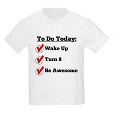 8th Birthday Checklist T-Shirt