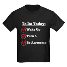 5th Birthday Checklist T-Shirt