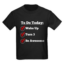 3rd Birthday Checklist T-Shirt