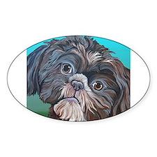 Brown Shih Tzu Dog Decal