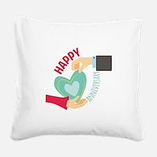 Happy Anniversary Square Canvas Pillow