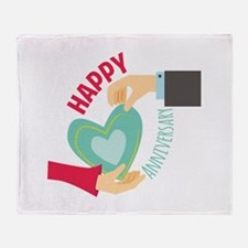 Happy Anniversary Throw Blanket