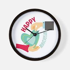 Happy Anniversary Wall Clock