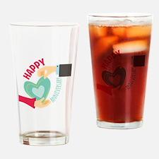 Happy Anniversary Drinking Glass